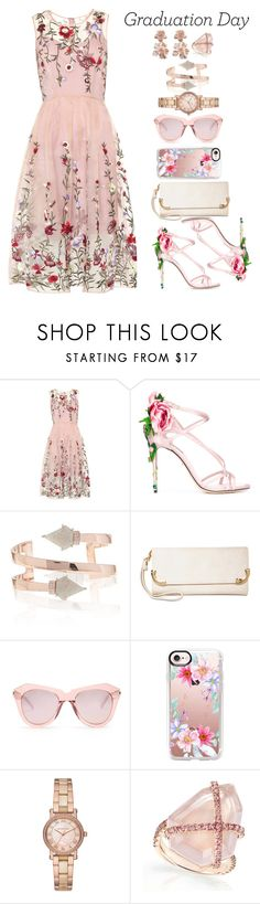 """Pinkalicious Graduation"" by allyssister ❤ liked on Polyvore featuring Dolce&Gabbana, MKF Collection, Karen Walker, Casetify, Michael Kors and Oscar de la Renta"