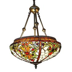 Tiffany Chandelier Lamp Fixtures Style Stained Handcrafted Hanging Lighting - Handcrafted, first developed by Louis Comfort Tiffany, elegant Tiffany Style Baroque Hanging Pendant Lamp will lend a exclusive touch to your home decor. Tiffany Chandelier, Chandelier Lamp, Pendant Lamp, Ceiling Lamps, Pendant Lights, Chandeliers, Stained Glass Chandelier, Hanging Stained Glass, Leaded Glass