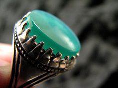 aqeeq ring green ISLAMIC ARABIC  mens ring handmade yemeni yaman akik aqeeq