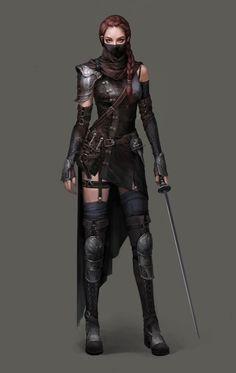art-of-cg-girls:Assassin by Si Woo Kim