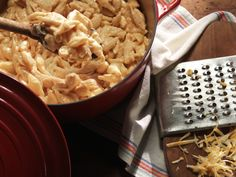 Creamy Stove-Top Mac and Cheese Recipe : Nancy Fuller : Farmhouse Rules   looked great contained cream cheese as well as cheddar and colby and dijon mustard   @krish22