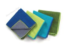4 Pack Kitchen Dish Towel Cleaning Wash Cloth with Poly Scour Side Dishcloths  #Ritz