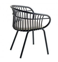 Stem arm chair - Upholstered seat