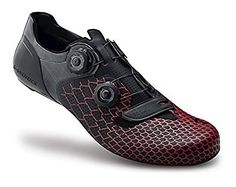 Amazon.com | Brand New Specialized S-Works 6 Road Shoe (Black/Red Custom) (42) | Cycling