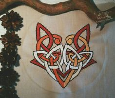 """Fox Spirit"" embroidery. Made for Loki's altar. Alviss Asvelsignelse"