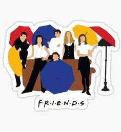 Stickers featuring millions of original designs created by independent artists. Preppy Stickers, Cute Laptop Stickers, Bubble Stickers, Cool Stickers, Printable Stickers, Phone Stickers, Friends Episodes, Friends Series, Friends Tv Show