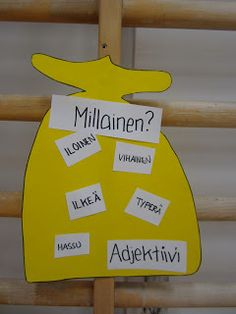 Open ideat: Toiminnallinen äidinkieli - sanaluokat Learn Finnish, Primary English, Teaching Aids, A Classroom, Diy For Kids, Little Ones, Language, Teacher, Projects To Try
