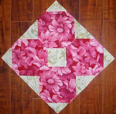 "Quilters...Enjoy Color!: Wildflower Block - Tutorial (2 1/2"" Strip Pieced)"