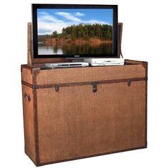 TV Lift Cabinet for 32-47 inch Flat Screens (Raffia) TVLIFTCABINET, Inc http://www.amazon.com/dp/B00GKR4C4M/ref=cm_sw_r_pi_dp_spxXtb1J1A38R7S3