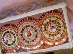 Large handmade Mosaic Box, former Bread Box....NO pink.....LOL