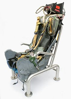 Martin Baker Mk6 ejector seat, originally used in a XV157 Buccaneer that flew with the British Royal Navy and the RAF.