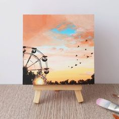 Small Canvas Paintings, Small Canvas Art, Cute Paintings, Mini Canvas Art, Original Paintings, Unique Paintings, Diy Canvas, Art Painting Gallery, Hand Painting Art