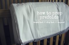 prepping prefold cloth diapers