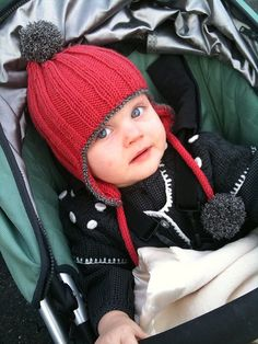 free pattern, dk wt yarn Source by mainequilter Baby Knitting Patterns, Baby Hats Knitting, Knitting For Kids, Knitting Projects, Knitted Hats, Crochet Patterns, Hat Patterns, Knitting Ideas, Bonnet Crochet