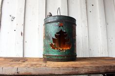 Vintage Gas Oil Can Christmas Tree Light,green,Sinclair,gift,decoration,repurposed,rustic home decor,holiday,metal,up cycled,recycled