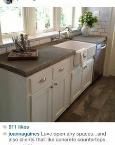 Cement Countertops Kitchen   Nothing Makes A Kitchen Look Lovelier. This  Small Addition Can Actually Add A Little Sophisti