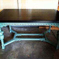 A beautiful table finished in Provence Chalk Paint® decorative paint by Annie Sloan | By Jennifer Roth