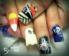 Trick or treat nails