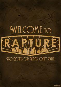 Welcome to Rapture. BioShock Rapture Poster. Videogames