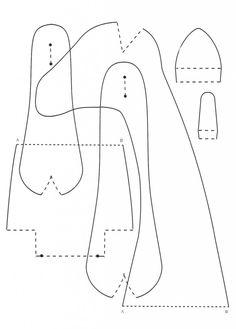 выкройка жираф тильда