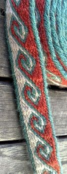 "pattern for this band. Repinned by Libby VanBuskirk on ""Weaving & Art Teaching Ideas."" Here is a stunning narrow weaving or belt that can be made on an inkle loom."