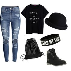 A Chilled Day Out by sav-annah-xo on Polyvore featuring polyvore fashion style H&M Timberland Pieces