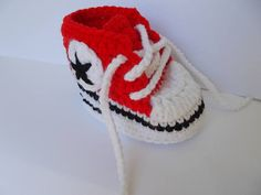 Crochet Converse All Star Crochet Baby Shoes all star baby