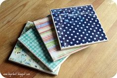 DIY coasters with scrapbooking paper