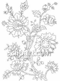 Clipart.com Closeup   Royalty-Free Image of Collection,Dover,design,floral,flowers,motif,traditional