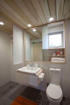 vanity cabinet over window...smart!