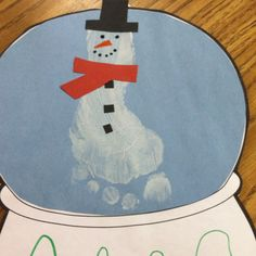 VISUAL: Snow globe! Love it Preschool winter artwork