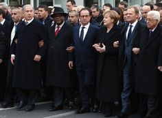 World Leaders attend free speech rally in Paris. Some hypocrisy among them.