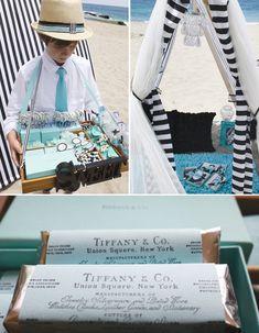 Glam Beach Party: Old Hollywood + Tiffany Blue. Credit:  Shawna Brockmeier Styled Events