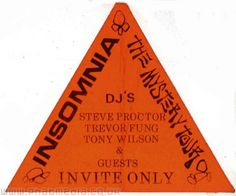 Insomnia 1989 The Mystery Tour - rave flyer uploaded to #phatmedia #raveflyers