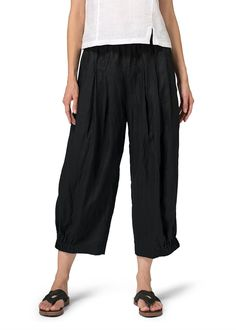 Vivid Linen Crumple Effect Harem Pants (Long) >>> You can find more details by visiting the image link. (This is an affiliate link) #HaremPants