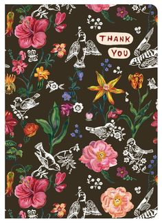 Nathalie Lete Greeting Card - Thank You 02