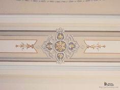 Роспись стены монохромной росписи