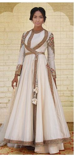 Buy Off White Silk Hand Embroidery Work Anarkali Suit Online Indian Look, Indian Ethnic Wear, Salwar Kameez, Patiala, Churidar, India Fashion, Ethnic Fashion, Pakistani Outfits, Indian Outfits