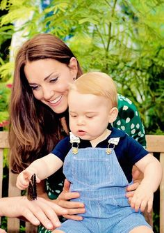 Prince George and Catherine.