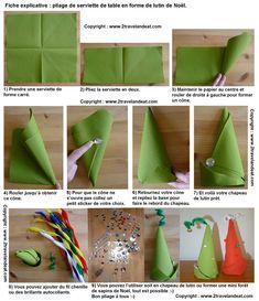Dozens of napkin folding tutorials on this site. Toilet Paper Origami, Origami Toys, Diy Paper, Christmas Napkin Folding, Christmas Napkins, All Things Christmas, Simple Christmas, Christmas Diy, Easy Christmas Decorations