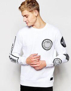 Image 1 ofJack & Jones Sweatshirt with Sleeve Print
