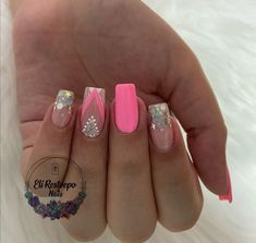 Pretty Nail Art, Cute Nails, Hair And Nails, Acrylic Nails, Manicure, Nail Designs, Makeup, How To Make, Color