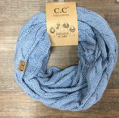 CC Infinity Scarf- Blue Denim