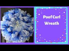 This wreath is poof deco mesh wreath with ruffles and ribbon Supplies used: Work Wreath with blue tinsel ties Deco mesh in blue and white 2 rolls of Wreath Crafts, Diy Wreath, Diy Crafts, Wreath Ideas, Mesh Wreath Tutorial, Deco Mesh Wreaths, Holiday Wreaths, Ruffles, Projects To Try