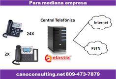 Central telefónica Mediana empresa 2.  24 Teléfonos GXP1450  2  Teléfonos GXP2124v2 para recepción 1 Servidor Dell Optiplex 745  Tarjeta Digium T1 TE121PF