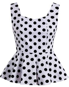 To find out about the White V Neck Sleeveless Polka Dot Bow Top at SHEIN, part of our latest Tank Tops & Camis ready to shop online today! Plus Size Shirt Dress, Bow Tops, White V Necks, Fashion 2020, A Line Skirts, Polka Dots, Polka Dot Blazer, Fashion Outfits, Clothes For Women