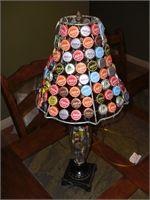 bottle cap lamp shade