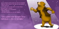 The Boogie Bear Boogie Bear, The Boogie, Simple Words, Freelance Illustrator, Children's Book Illustration, Childrens Books, Joy, Disney Characters, Movie Posters