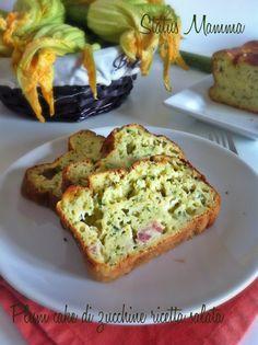 Plum cake di zucchine ricetta salata