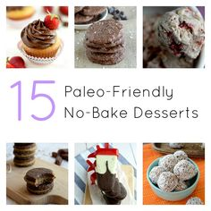 15 Paleo Desserts that can be made without the oven!
